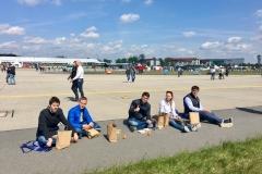 Pause während der Flugshow